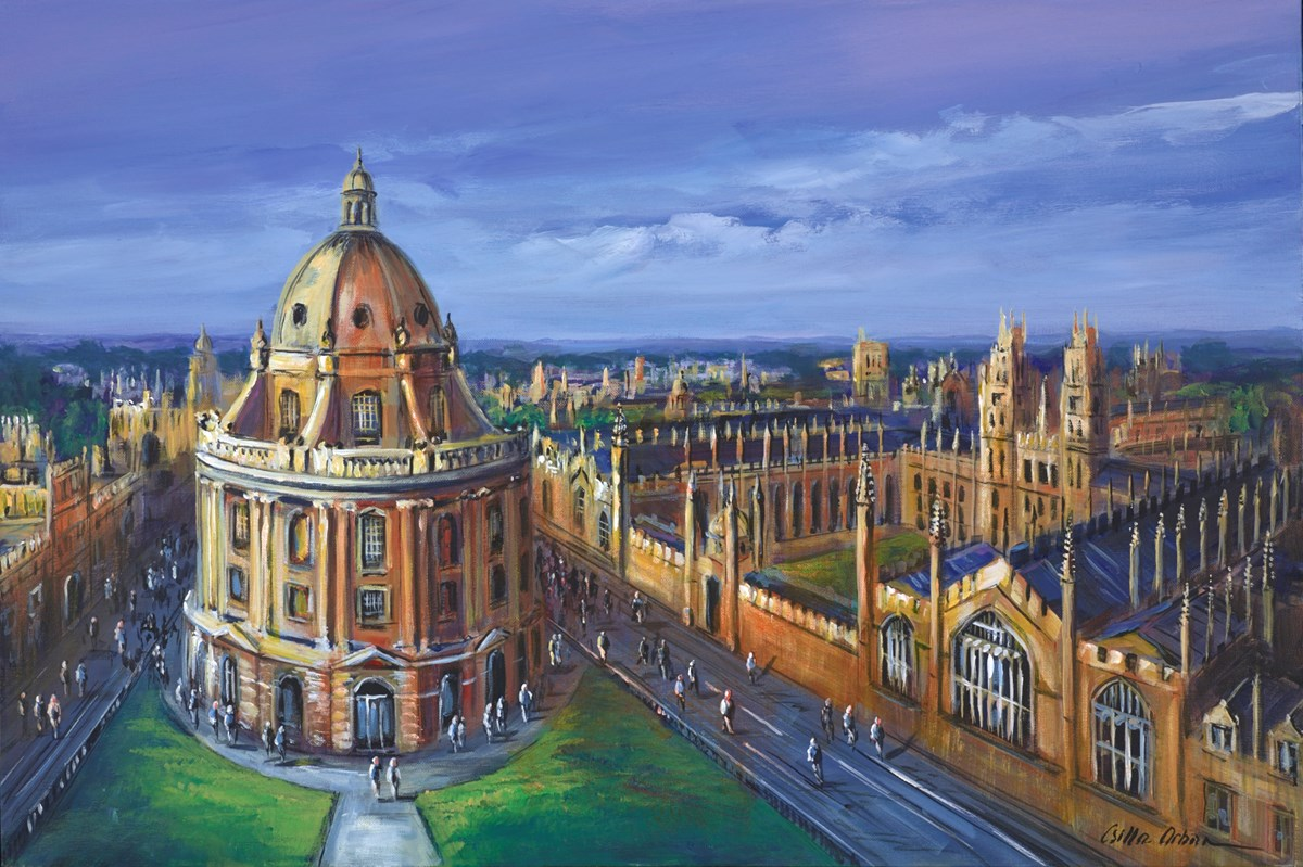 Oxford View by csilla orban -  sized 36x24 inches. Available from Whitewall Galleries